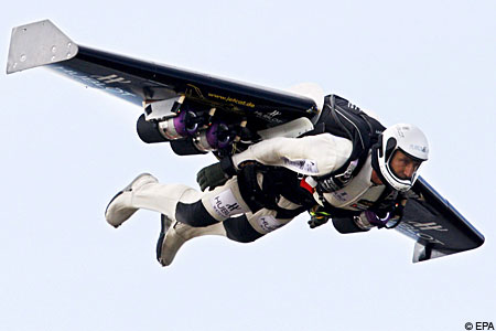 The Swiss daredevil was trying to fly from Morocco to Spain
