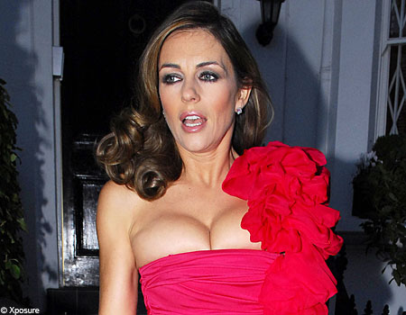 Beefy: Liz Hurley is hooked on the jerky