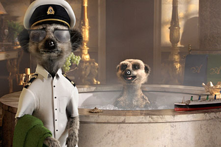 Aleksandr takes it easy in a jacuzzi in his new hilarious advert