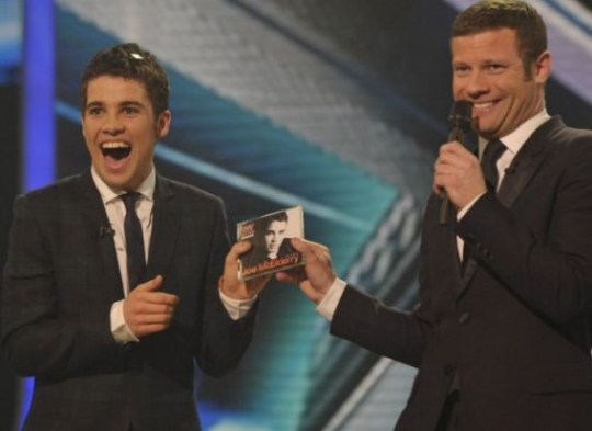 Joe McElderry and Dermot O'Leary on The X Factor, 2009