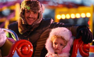 Peter Andre enjoys Christmas with his and Katie Price's kids