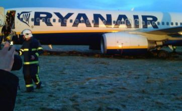Ryanair jet skids off Prestwick Airport runway