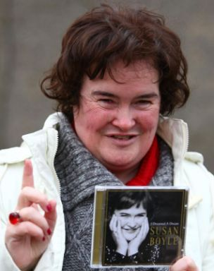 Dream year: Britain's Got Talent runner-up Susan Boyle is feeling happier than ever