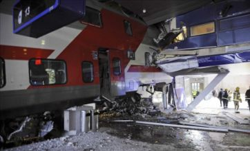 Train crashes into hotel in Helsinki