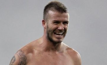Beckham strips off in Milan romp