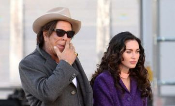 Megan Fox makes a passion play for Mickey Rourke