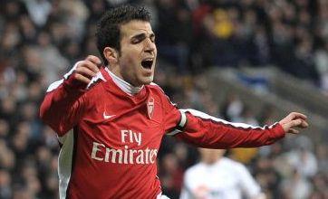 Fabregas ready to lift Arsenal to top