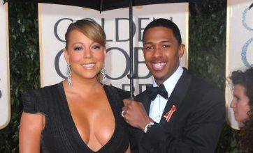 Mariah Carey and Halle Berry show off their Golden Globes