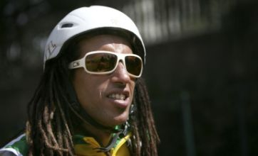 Ethiopian skier hits the road to warm up for Winter Olympics
