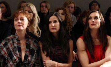 Susan Sarandon, Demi Moore and Brooke Shields admire DKNY