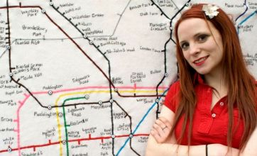 Artist has the Tube in stitches with her Tube map tapestry
