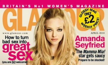 Amanda Seyfried gets saucy in British magazine thanks to Dominic Cooper