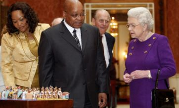 The Queen welcomes South African president Jacob Zuma