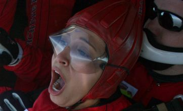Sugababes' Amelle Berrabah jumps 13,000 feet for charity