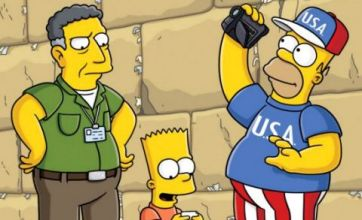 Sacha Baron Cohen in The Simpsons: First look