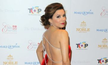 Eva Longoria and Sarah Harding in red carpet clash