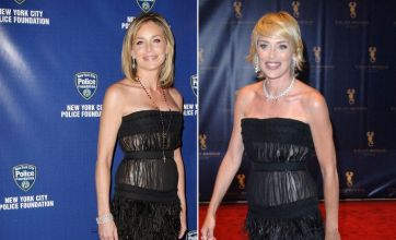 Sharon Stone wears same dress but loses 10 years off her age