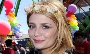 Mischa Barton blushes as credit cards crash