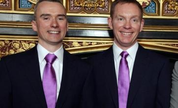 Minister's historic gay 'marriage'