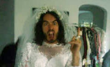 Russell Brand dresses as 'bridezilla' and exposed by Katy Perry via Twitter