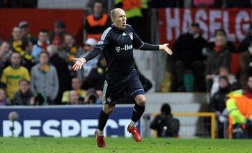 Arjen Robben volleys Bayern Munich past Manchester United