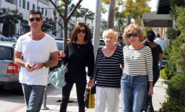 Simon Cowell takes fiancé Mezhgan Hussainy, his mum and aunt shopping