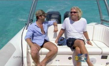 Richard Branson shows off underwater plane