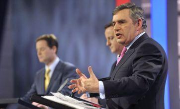 Gordon Brown: 'I lost live TV debate' to Nick Clegg and David Cameron