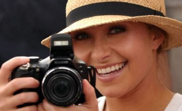 Hayden Panettiere takes to life behind the lens with a beaming smile