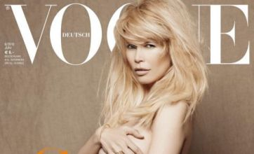 Claudia Schiffer's Vogue naked cover evokes memories of Demi Moore