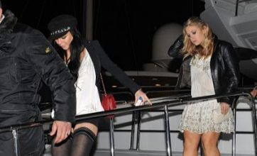 Lindsay Lohan stuck in Cannes with mystery girl