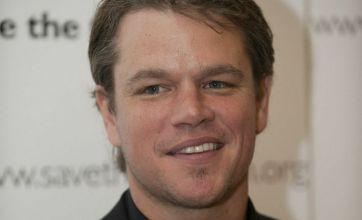 Matt Damon is harassed by Hollywood jokers as he receives award
