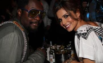 Cheryl Cole and Will cosy up at gig
