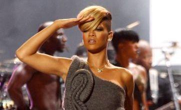 Rihanna wears crazy knitted leotard for gig