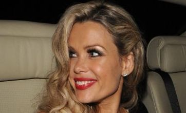 Melinda Messenger's famous chest has a surprise outing at TV Bafta Awards