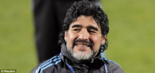Diego Maradona is looking to lead Argentina to glory