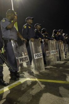 Police and riot squads