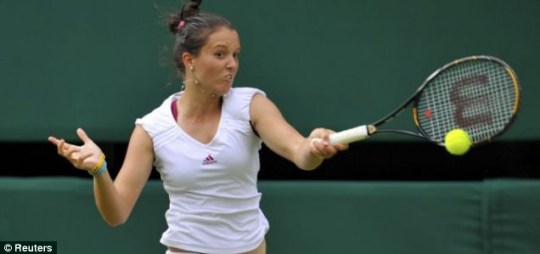 Britain's Laura Robson lost out to Serbia's Jelena Jankovic
