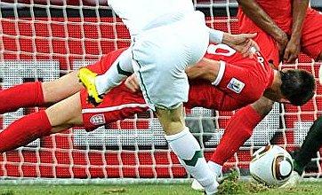 England v Slovenia picture: John Terry dives head-first to deny Slovenia