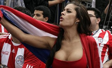 Sexy model Larissa Riquelme vows to run naked if Paraguay win World Cup