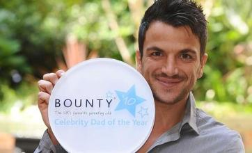 Peter Andre crowned dad of the year