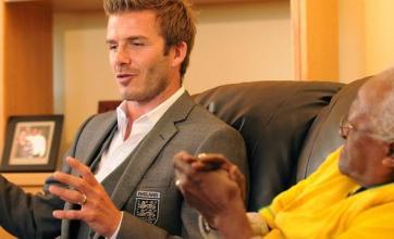 I could hug you, Tutu tells Beckham