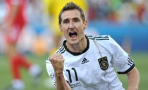 Miroslav Klose is struggling with a back injury (PA)