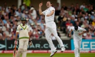 James Anderson celebrates another wicket (PA)