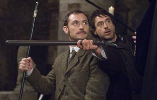Jude Law and Robert Downey Jr star in Sherlock Holmes