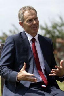 Britain's former Prime Minister Tony Blair