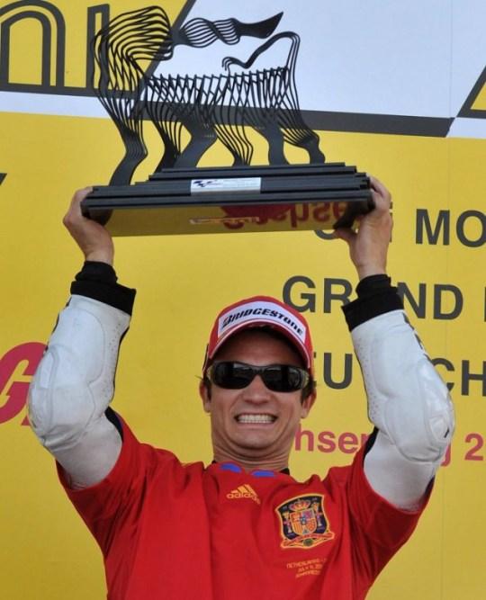 Spain's Dani Pedrosa of Honda won the MotoGP title race at the Sachsenring