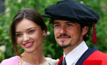 Orlando Bloom and new wife Miranda Kerr touch down after honeymoon