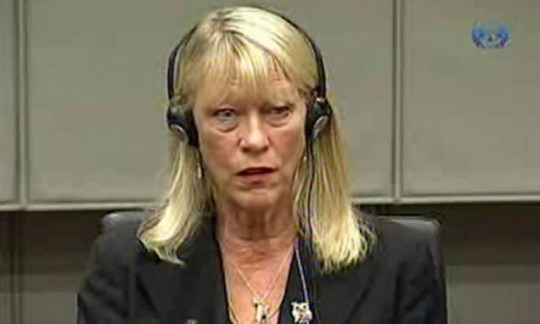 Naomi Campbell's former agent Carole White testifying before a war crimes trial in the Hague (/AFP/Getty Images)Naomi Campbell's former agent Carole White testifying before a war crimes trial in the Hague (/AFP/Getty Images)