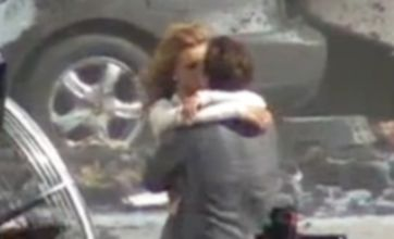 Transformers 3: Shia LaBeouf and Rosie Huntington-Whiteley filmed kissing